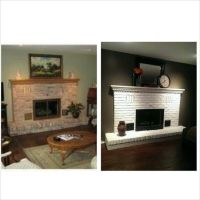 Before and After painted brick fireplace | For the Home ...