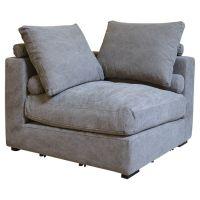 Chadwick Corner Chair in Stonewash Grey | home. | Pinterest