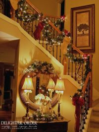Staircase Christmas Decorating | Holidays | Pinterest
