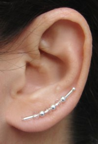 Ear Pins, Earring Pins - Silver And