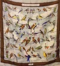 Hermes vintage bird scarf | Scarves | Hats | Pinterest