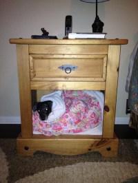 Dog bed in nightstand. | Organizing House/Garden/Garage ...