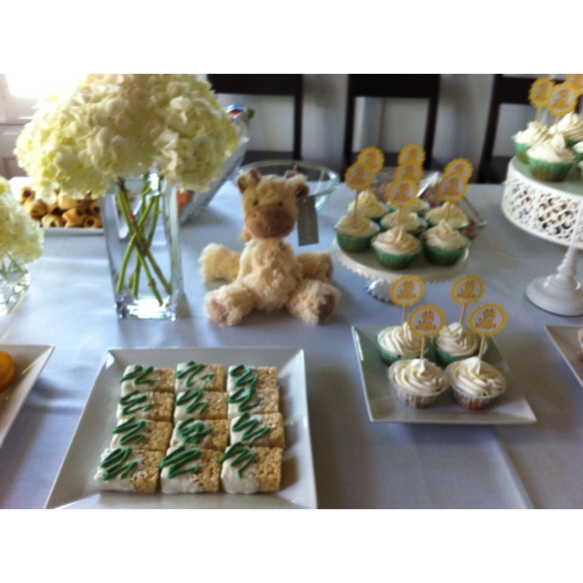 Giraffe theme baby shower