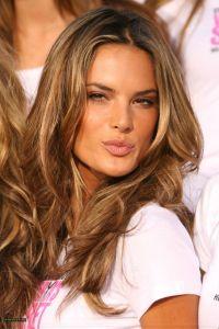 Alessandra Ambrosio #hair #hairstyle #haircolor # ...