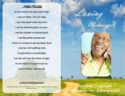 Funeral Service Announcement Template free funeral program – Free Printable Memorial Service Programs