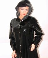Black Rubber Hooded Raincoat RAINWEAR Pinterest