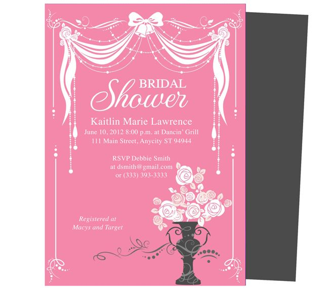 Bridal Shower Invitations Microsoft Word Bridal Shower Invitation - bridal shower invitation templates for word