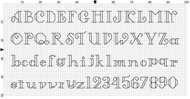 Free Cross Stitch Alphabet Patterns Printable Online Free Cross Stitch Font Stitching Pinterest
