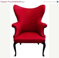 Red Wing Back Chair