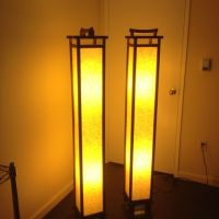 Japanese standing floor lamps.   pretty pretty things ...