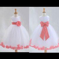 Coral flower girl dresses | Jilly | Pinterest