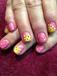 Summer sun nail art by Debbrew | Things to do in life ...