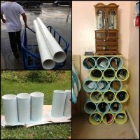 from pvc pipe to shoe rack   decoration   Pinterest