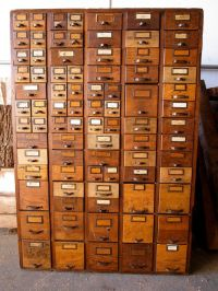 Card Catalog/Hardware Store Cabinet