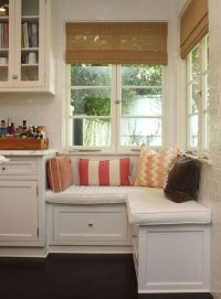 built in seating area in the kitchen