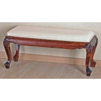 Windsor Hand Carved Foot of Bed Bench