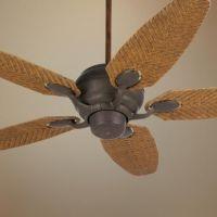 "52"" Casa Optima Honey Rattan Blades Ceiling Fan"