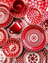 Red and white dishes | Colors to Love | Pinterest
