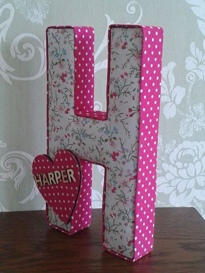 Fabric Covered Wooden Letters | Sample Of It Resume