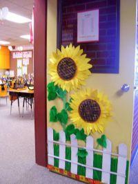 Sunflowers for the door garden | for the classroom | Pinterest