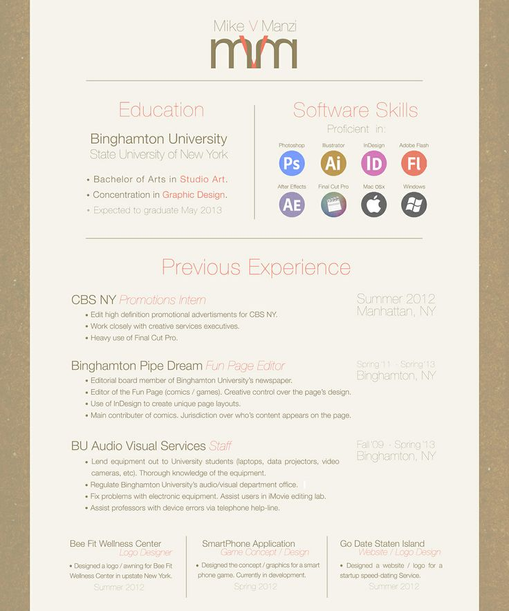 cv design program