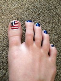 Fourth of July toe nail design | Toenail Designs.. | Pinterest