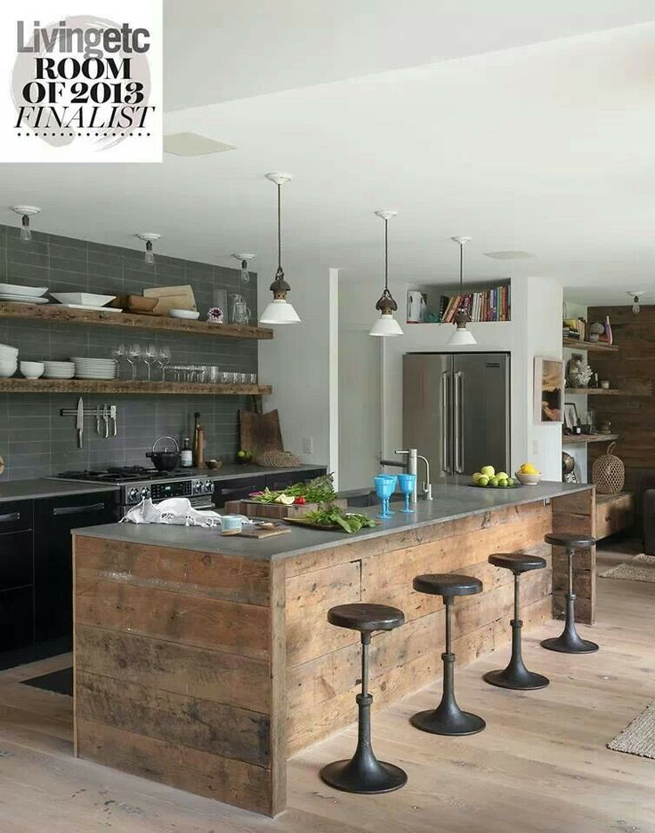 Industrial Kitchen Island Rustic Industrial Style Kitchen | For The Home | Pinterest