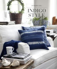 Artwood indigo style blue and white living room family ...