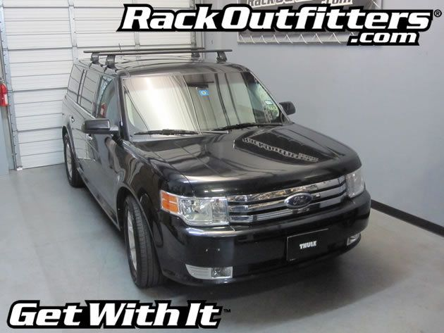 Ford Flex Thule Rapid Traverse Black Aeroblade Base Roof