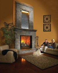 Fireplace waterfall. | Big house & Big dreams* | Pinterest
