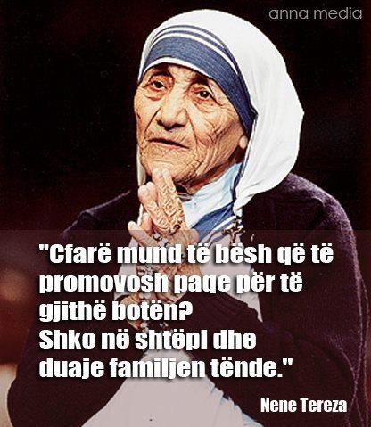 Typography Quotes Wallpaper Nene Tereza Albania Pinterest