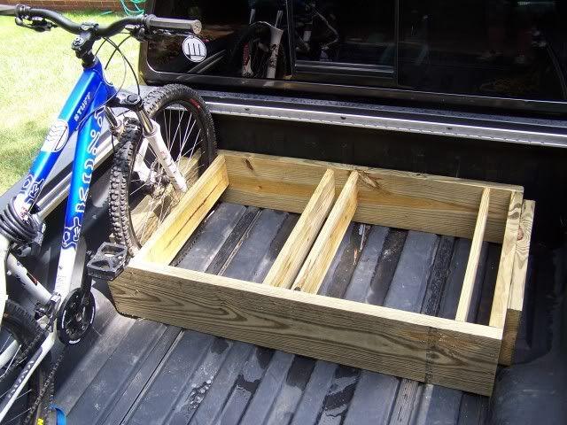 DIY Bike rack for truck bed.