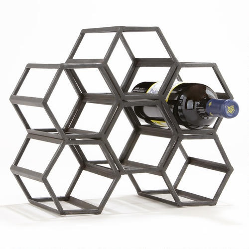 Black Hexagonal Wine Rack Worldmarket Trendy Pattern