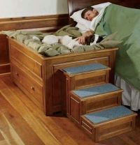 Pet bed attached how cool is that. | Dream House | Pinterest