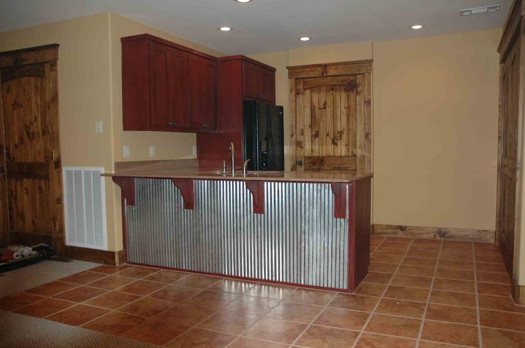 Corrugated Metal Kitchen Island Corrugated Metal On Kitchen Island | House | Pinterest