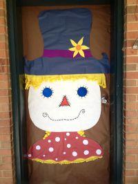 Scarecrow door decoration | Classroom Door ideas | Pinterest