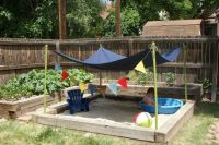 Backyard sandbox | Gardening | Pinterest