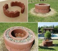 Easy fire pit | Home ideas | Pinterest