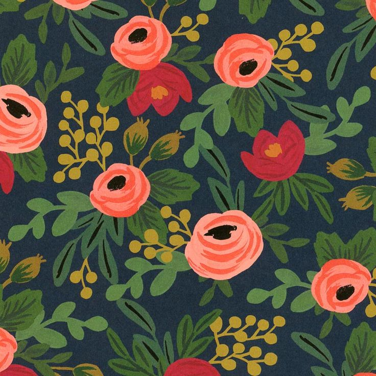 Cell Wallpaper Hd Illustration Fall Rifle Paper Rosa Print Patterns Wallpapers Textures