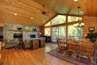 Rustic vaulted wood ceiling