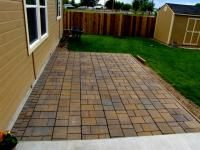 Patio with the large pavers | For the Home | Pinterest