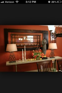 Burnt Orange And Brown Living Room