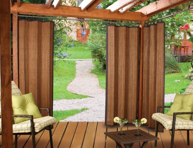 Bamboo curtains for outdoors backyard privacy pinterest