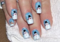 Snowmen | Crazy Nail Design | Pinterest