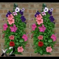 2 jute hanging flower plant planter bag bags pot garden ...