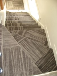 Carpet tile stairs!