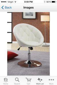 White chair   Makeup Room   Pinterest