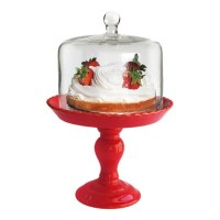 Stella Pedestal Cake Plate in Red. | Cake Stands | Pinterest