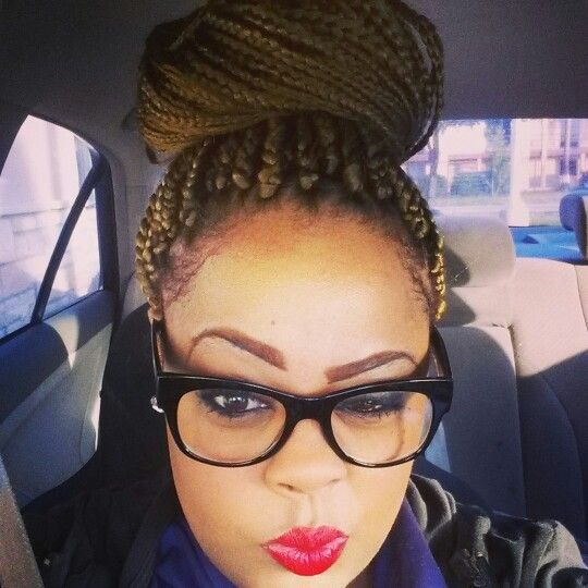 Box braids with blonde highlights long hairstyles