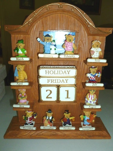 Perpetual Calendar Ebay Wristwatches Ebay Rare Avon Free Standing Brown Resin Bears Figurines